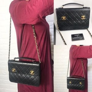 ❤️RARE❤️quilted Chanel briefcase